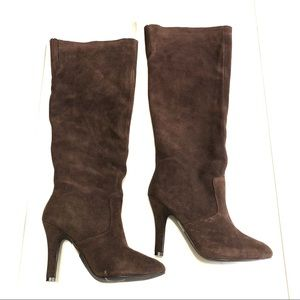 Colin Stuart Chocolate Brown Suede Boots Size 9